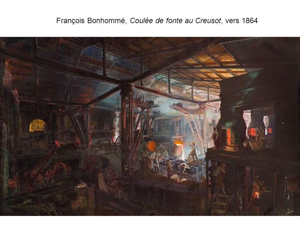 François Bonhommé, Coulée de fonte au Creusot, vers 1864