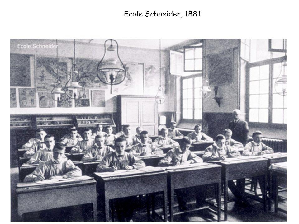 Ecole Schneider, 1881