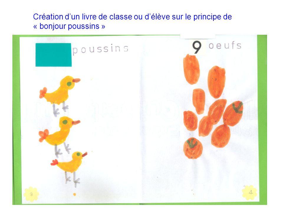 Création dun livre de classe ou délève sur le principe de « bonjour poussins »