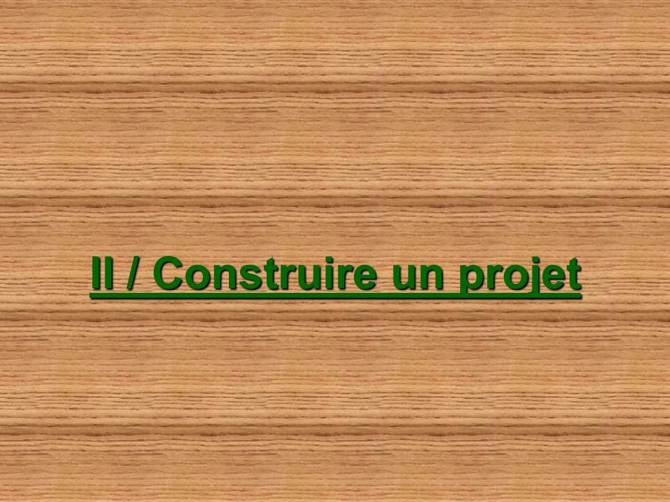II / Construire un projet