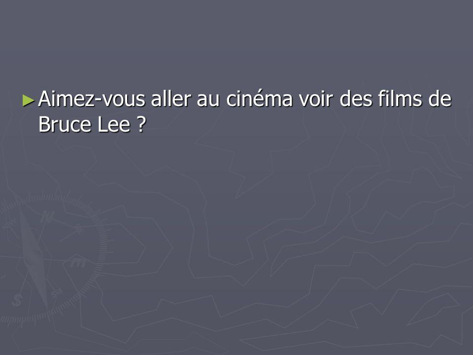 Aimez-vous aller au cinéma voir des films de Bruce Lee ? Aimez-vous aller au cinéma voir des films de Bruce Lee ?