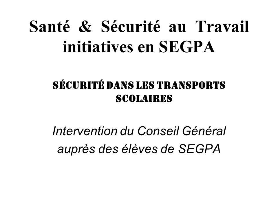 Santé & Sécurité au Travail initiatives en SEGPA la sécurité routière Contrôle technique des bicyclettes de tous les élèves du collège.