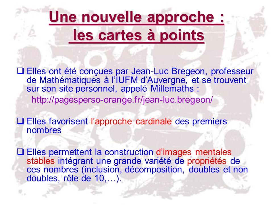 Une nouvelle approche : les cartes à points Elles ont été conçues par Jean-Luc Bregeon, professeur de Mathématiques à lIUFM dAuvergne, et se trouvent