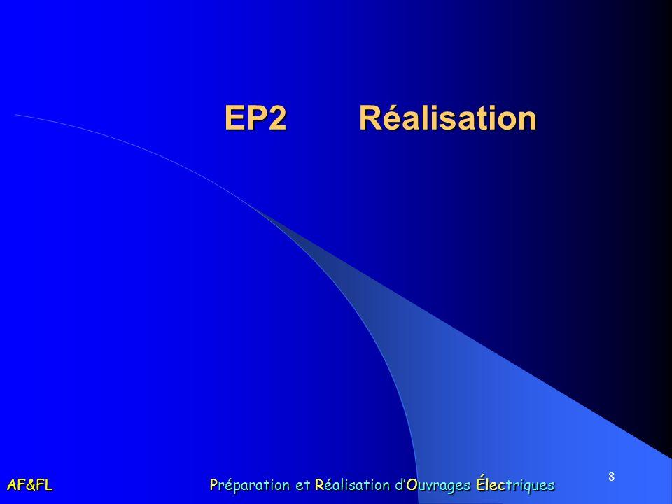 8 EP2 Réalisation AF&FL Préparation et Réalisation dOuvrages Électriques