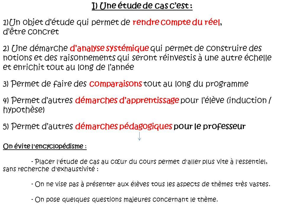 II) Les critères de choix d une étude de cas 1) L étude de cas n est pas choisie au hasard.