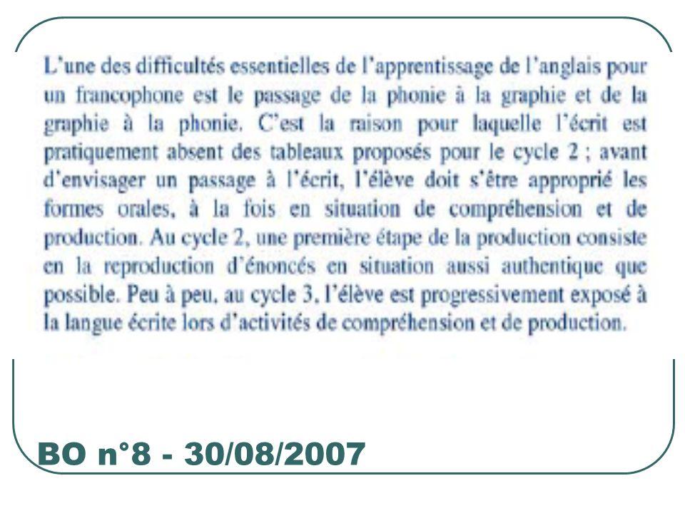 BO n°8 - 30/08/2007
