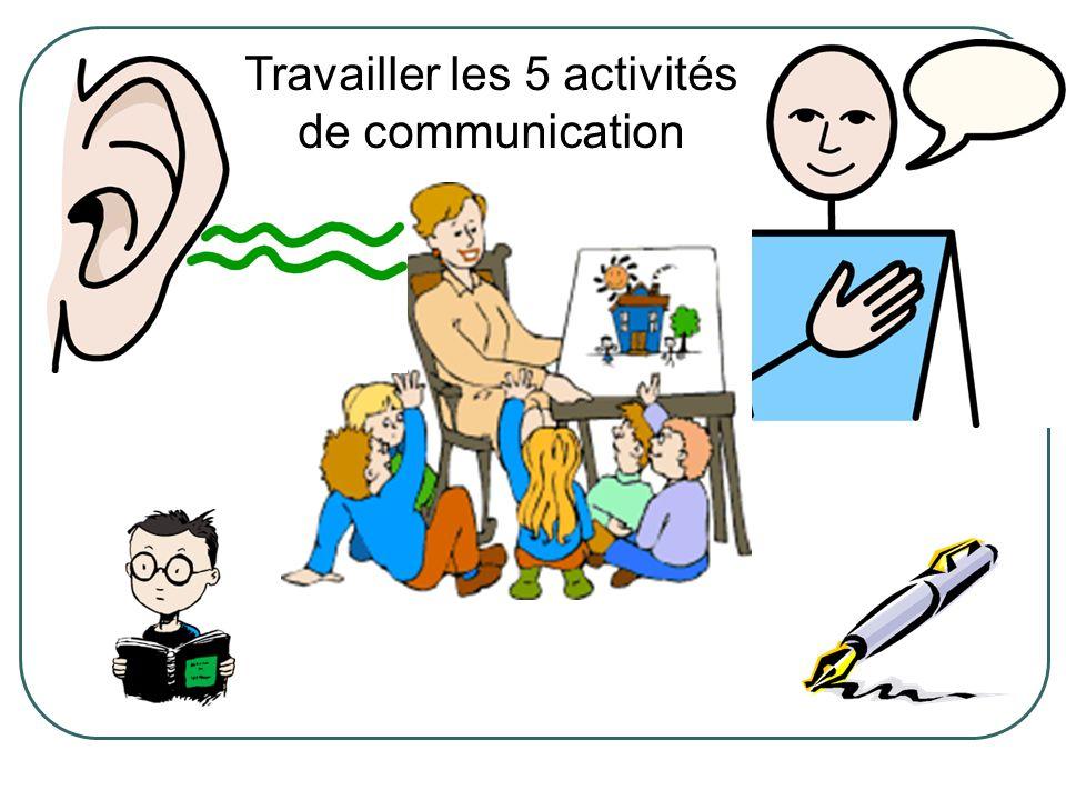 Travailler les 5 activités de communication