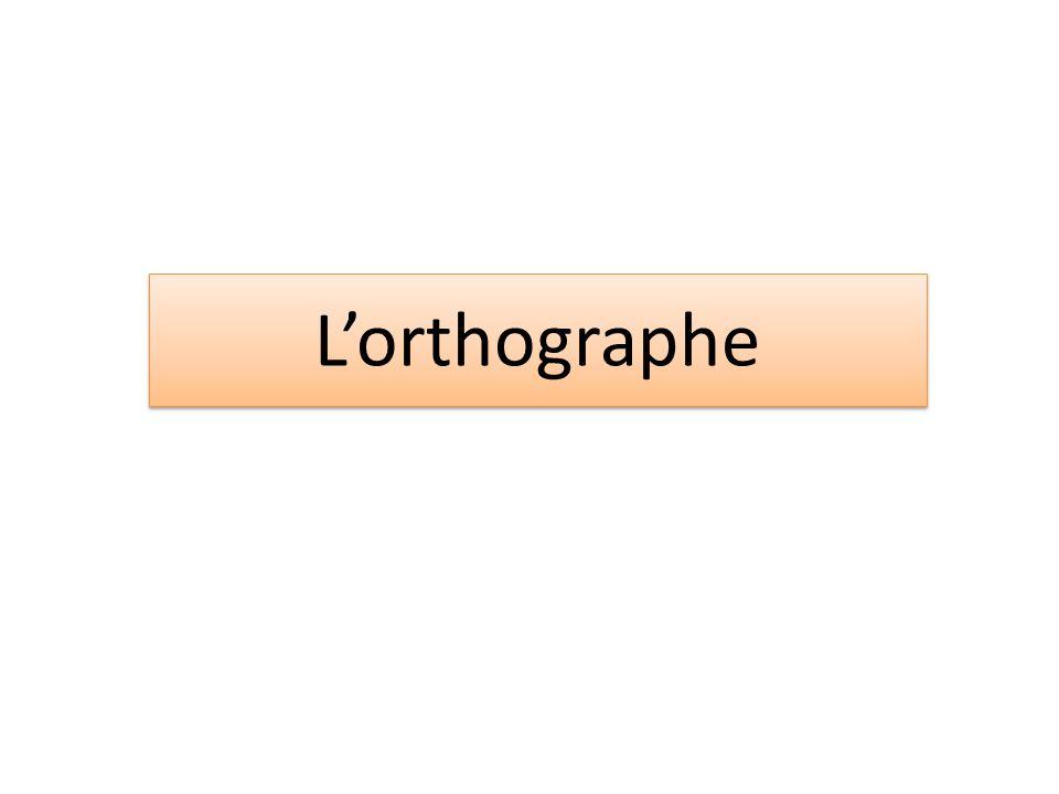 Lorthographe