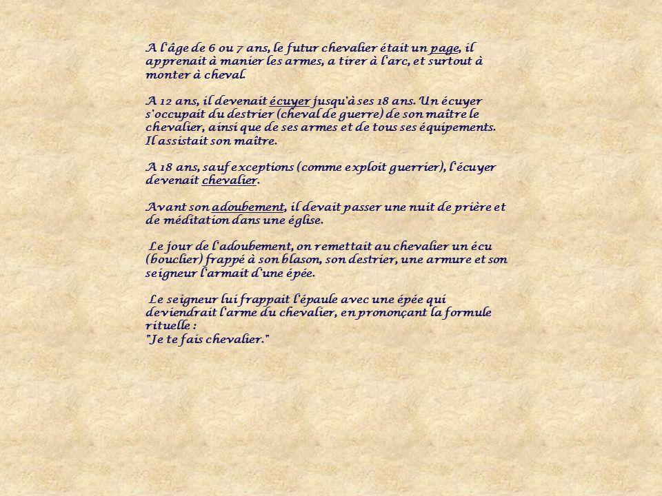 Les devoirs du vassal envers son seigneur La vassalité allie deux hommes libres mais ile seigneur a davantage de pouvoir que le vassal.