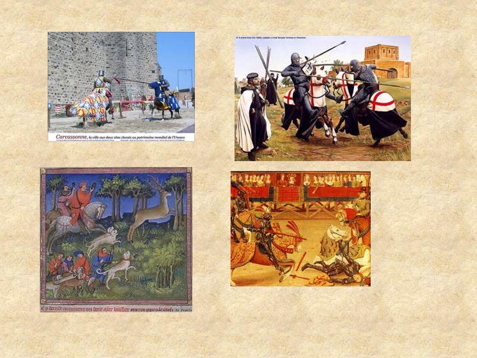 Trois sortes de tournois 1)Le pas d arme L e « pas d arme » était un tournoi où s affrontaient des chevaliers à pied dans un enclos appelé la Lice.