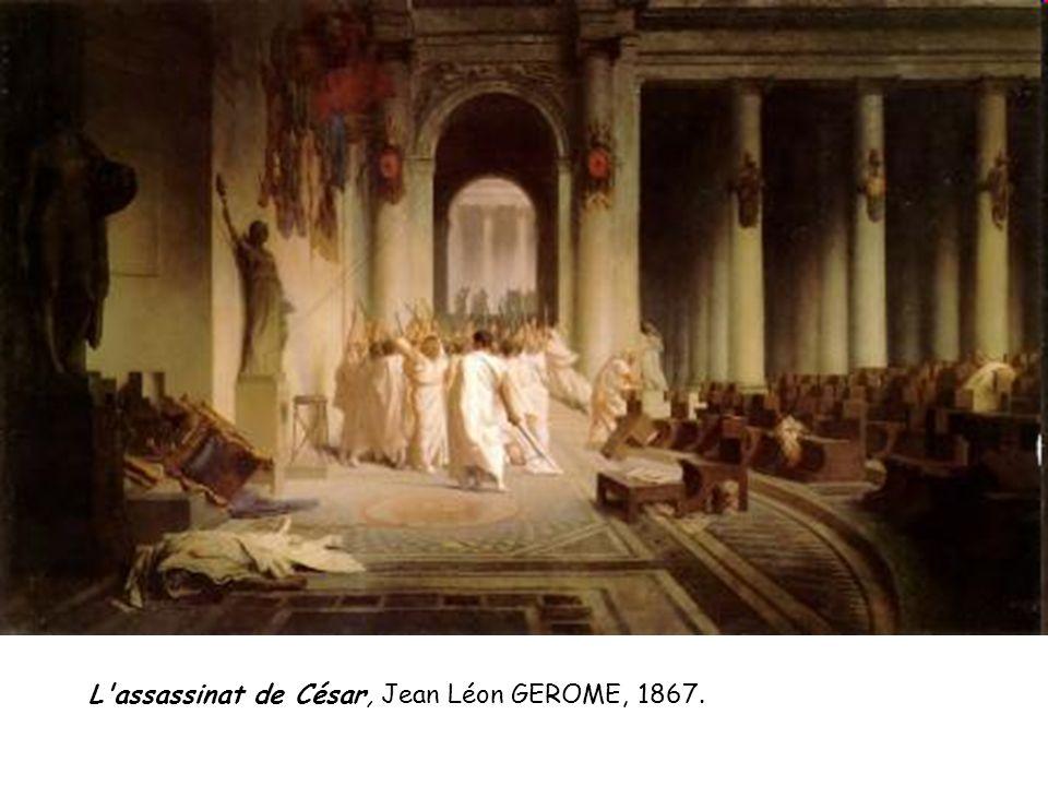 L'assassinat de César, Jean Léon GEROME, 1867.