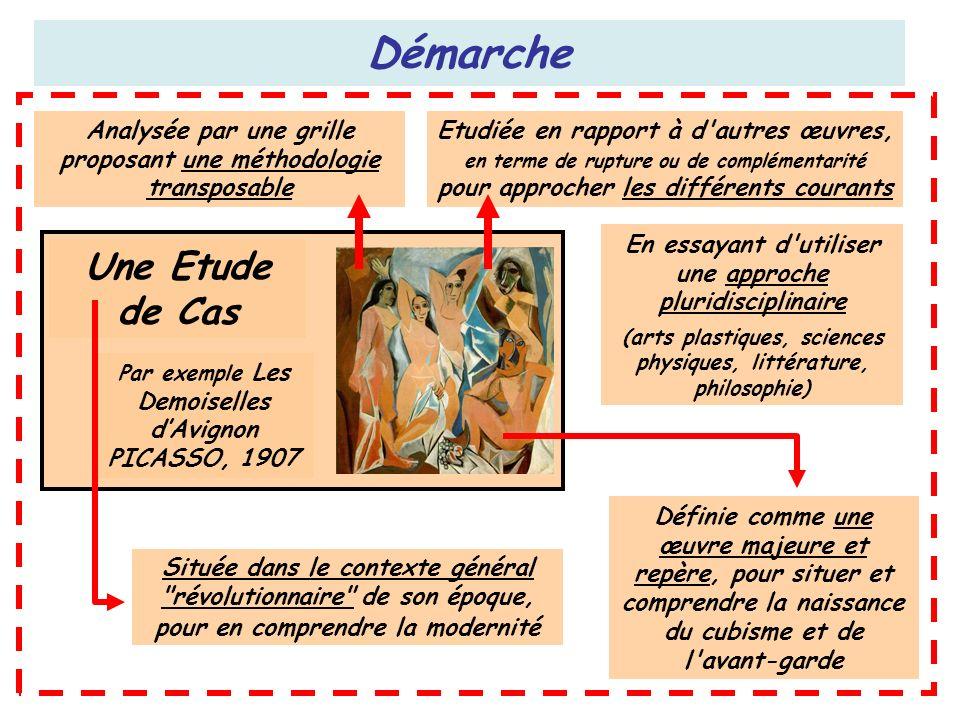 Démarche Une Etude de Cas Par exemple Les Demoiselles dAvignon PICASSO, 1907 Située dans le contexte général