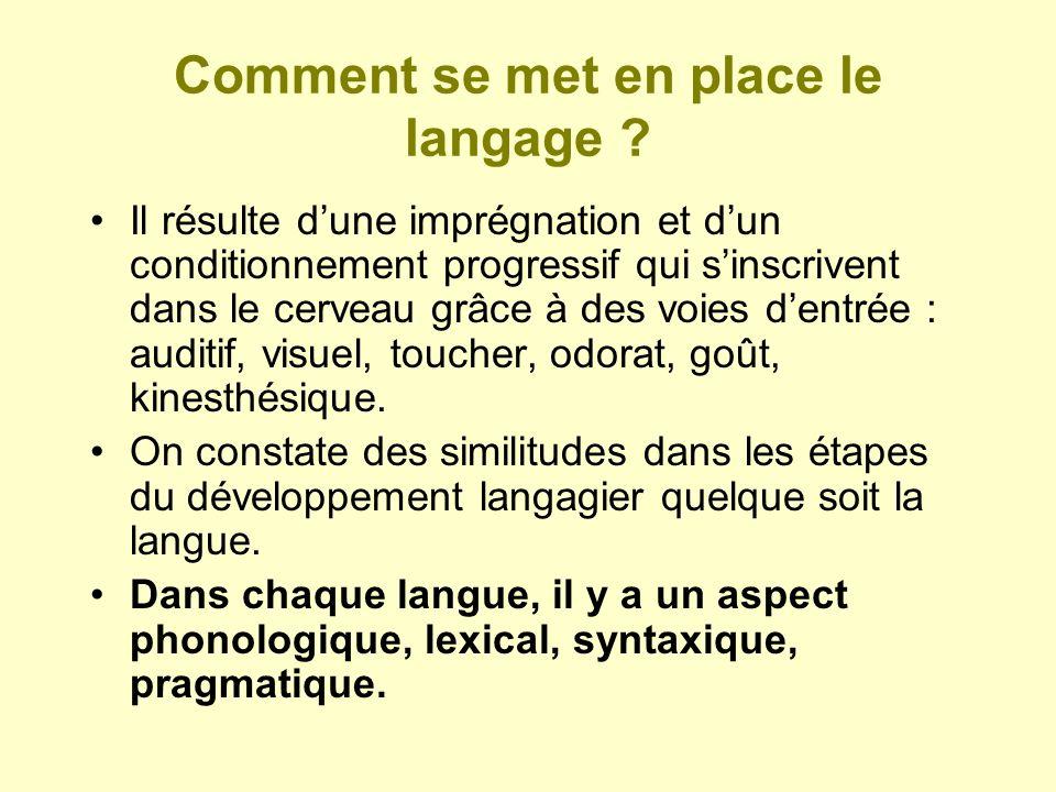 segmentation Conversion graphèmes/phonèmes chapeau Synthèse Lexique orthographique Système sémantique Lexique phonologique Prononciation CH A P EAU //// //a// //p// //o// VOIE DADRESSAGEVOIE DASSEMBLAGE
