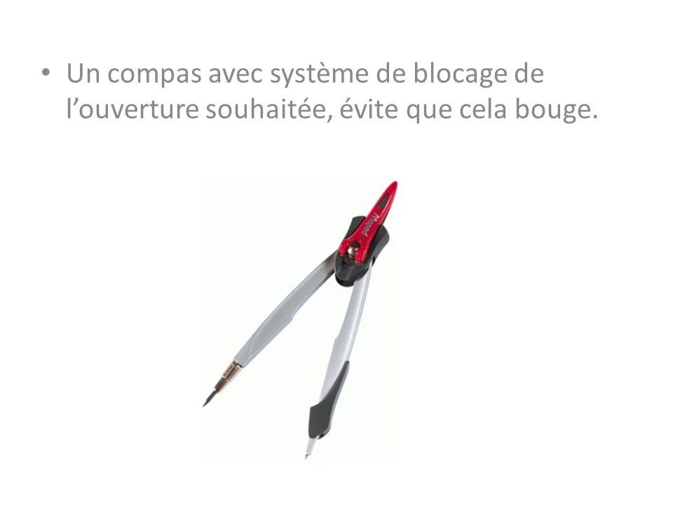 Un compas avec système de blocage de louverture souhaitée, évite que cela bouge.