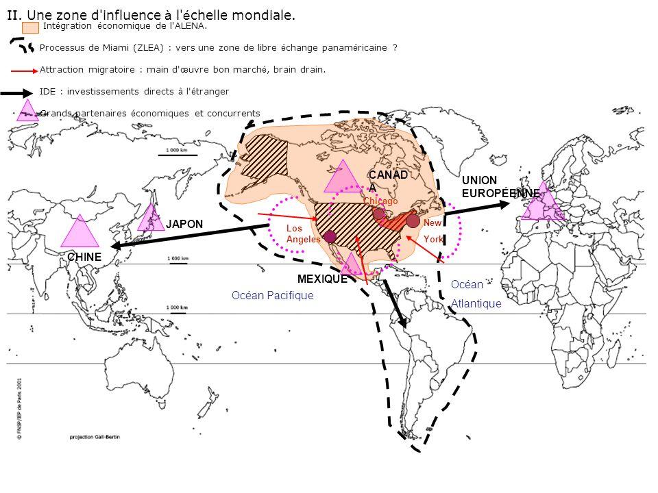 II.Une zone d influence à l é chelle mondiale.