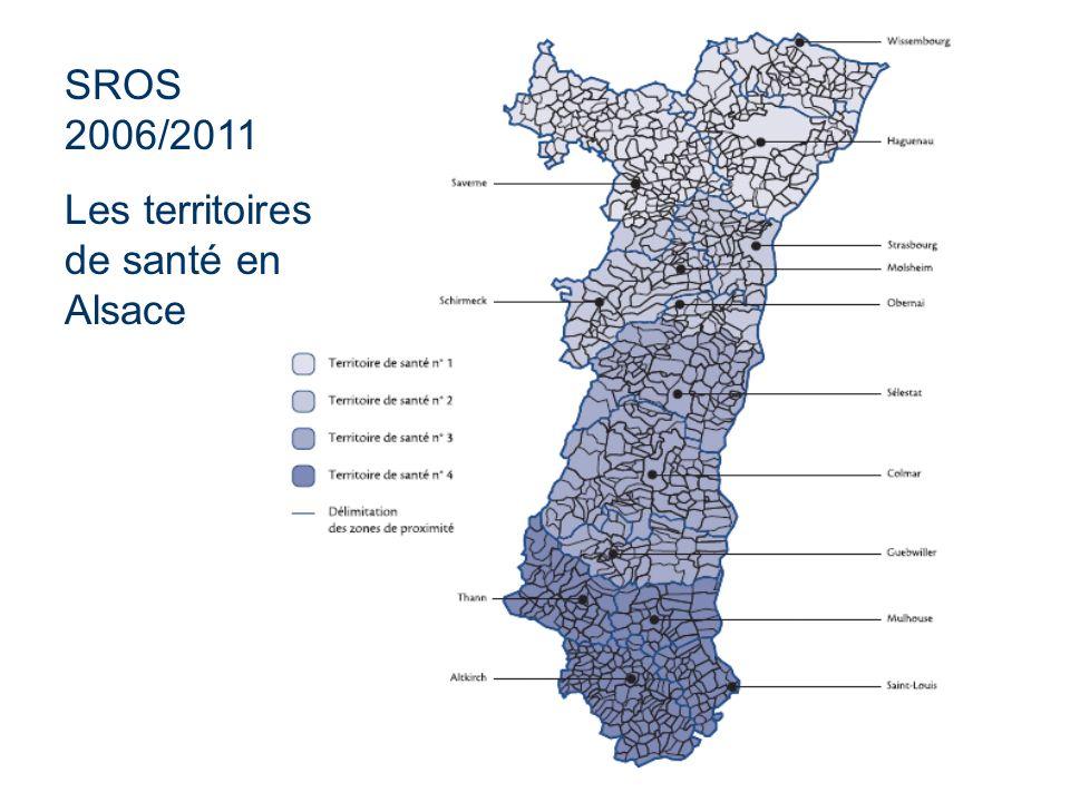 SROS 2006/2011 Les territoires de santé en Alsace
