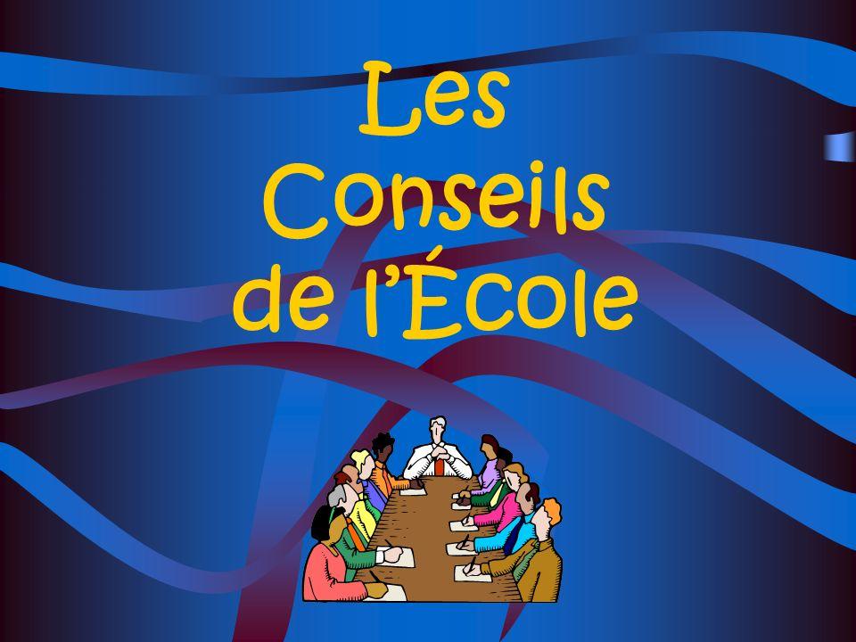 Les Conseils de lÉcole