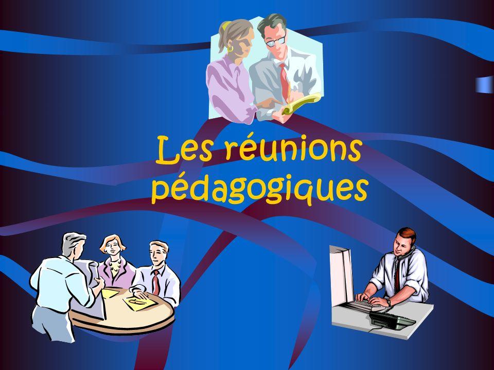 Les réunions pédagogiques
