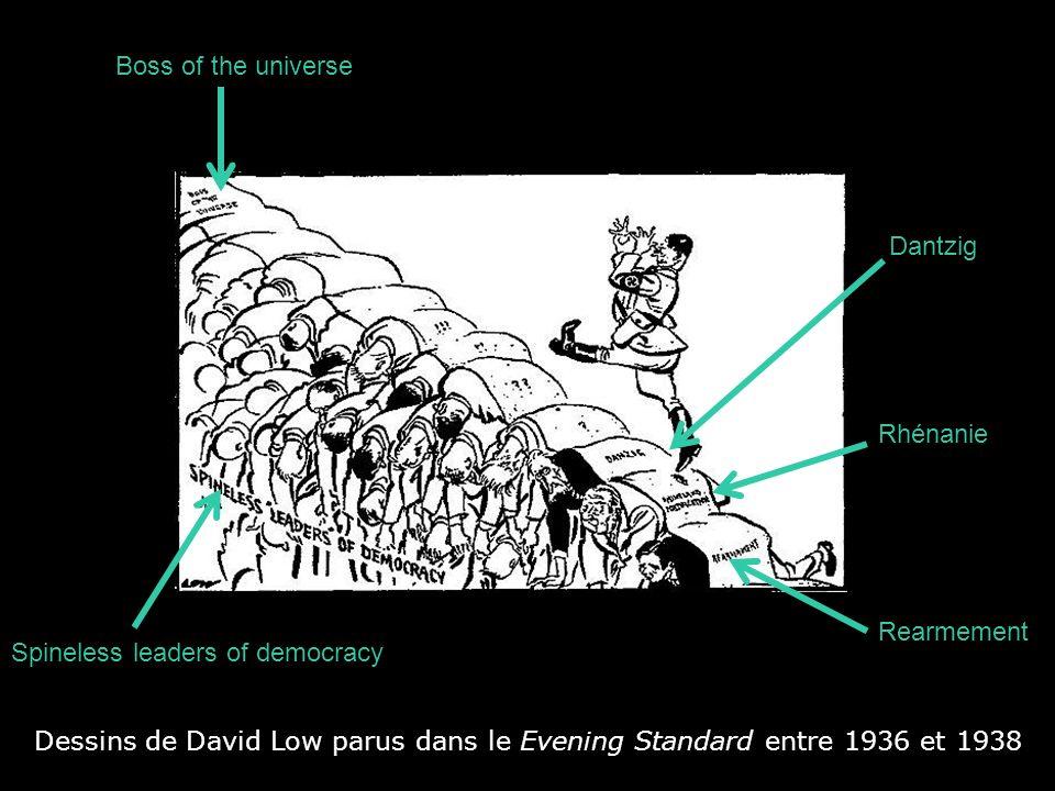 Dessins de David Low parus dans le Evening Standard entre 1936 et 1938 Spain