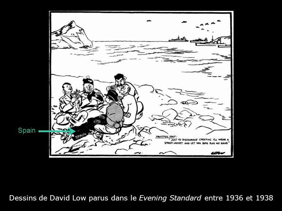 Dessins de David Low parus dans le Evening Standard entre 1936 et 1938 Staline : « Quoi .