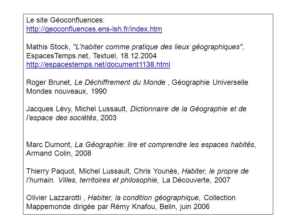 Le site Géoconfluences: http://geoconfluences.ens-lsh.fr/index.htm Mathis Stock,