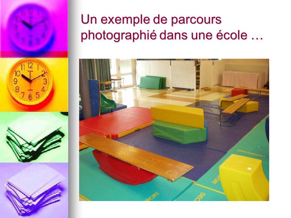 Un exemple de parcours photographié dans une école …