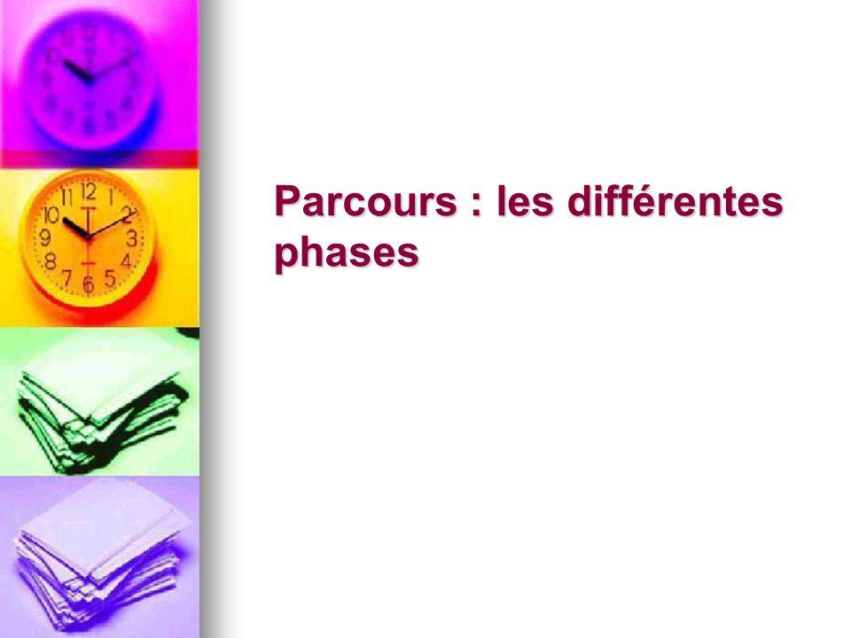 Parcours : les différentes phases