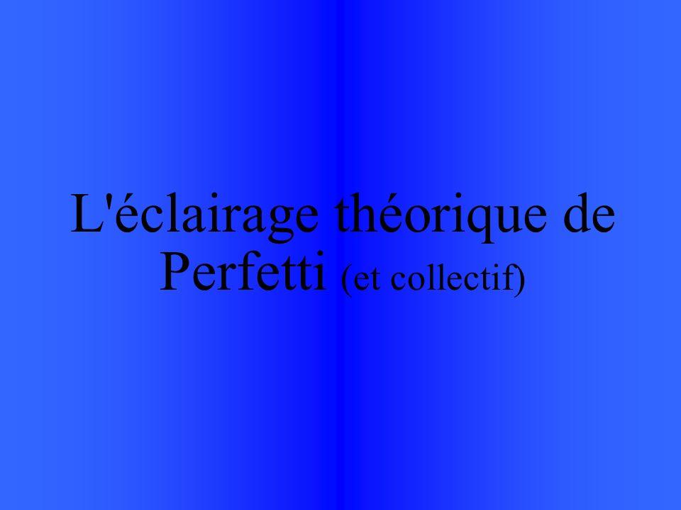 L éclairage théorique de Perfetti (et collectif)