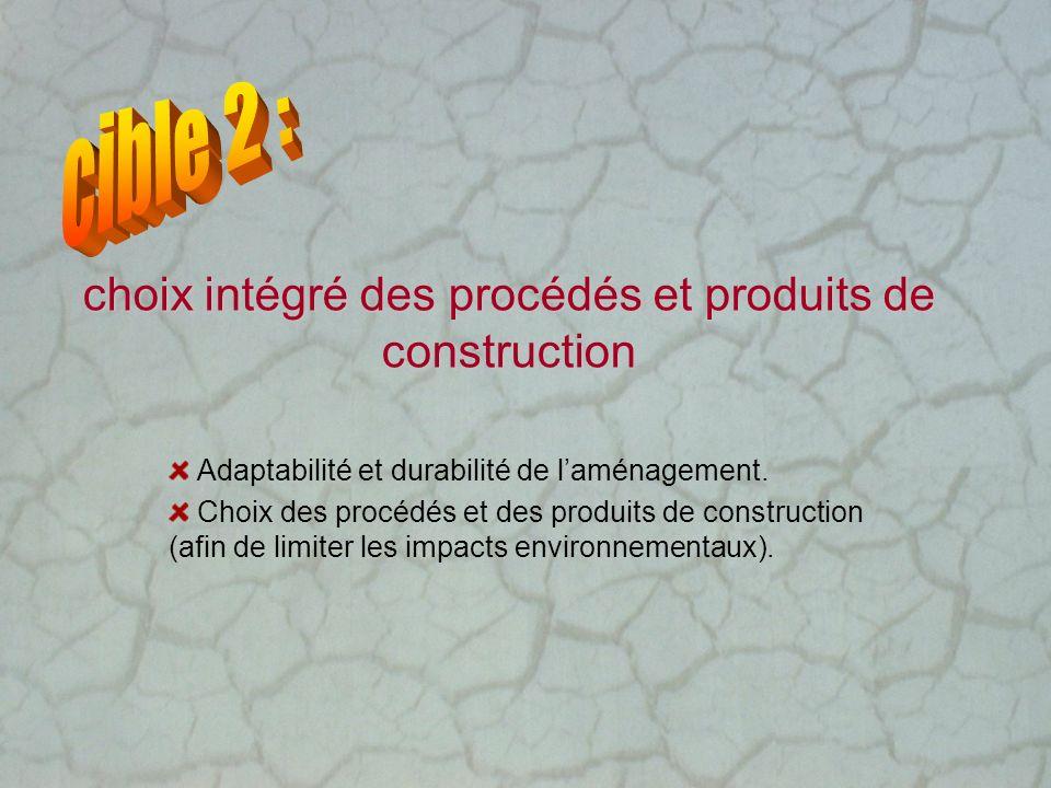choix intégré des procédés et produits de construction Adaptabilité et durabilité de laménagement. Choix des procédés et des produits de construction