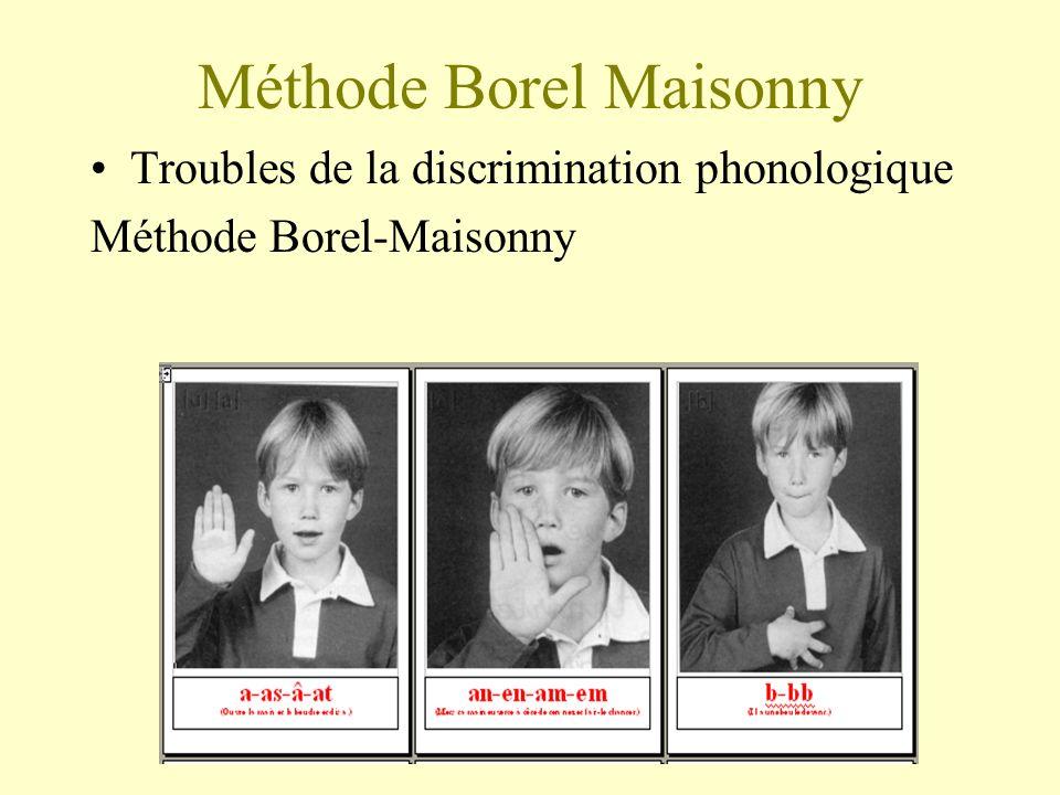 Méthode Borel Maisonny Troubles de la discrimination phonologique Méthode Borel-Maisonny