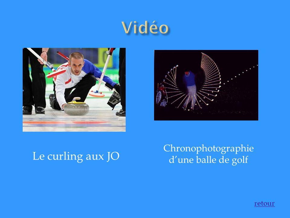 Le curling aux JO Chronophotographie dune balle de golf
