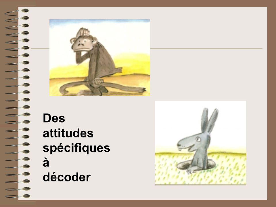 Des attitudes spécifiques à décoder