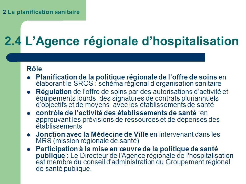 3.1.1 Les établissements publics de santé Les établissements publics de santé sont dotés dune personnalité morale de droit public Ils sont placés sous la tutelle de lEtat et de lARH.