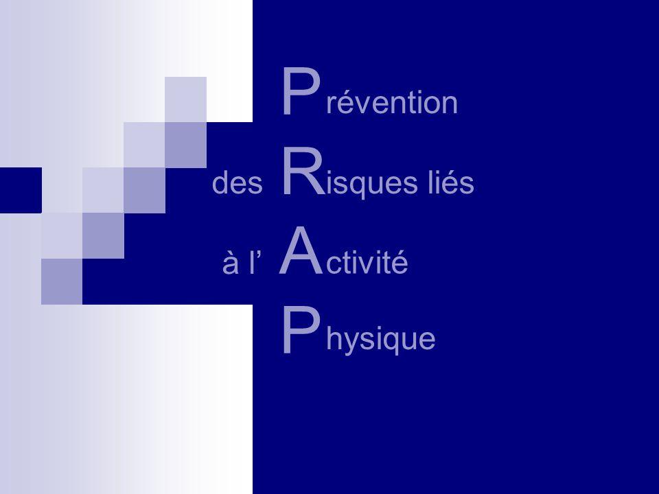 P R A P révention desisques liés à l ctivité hysique