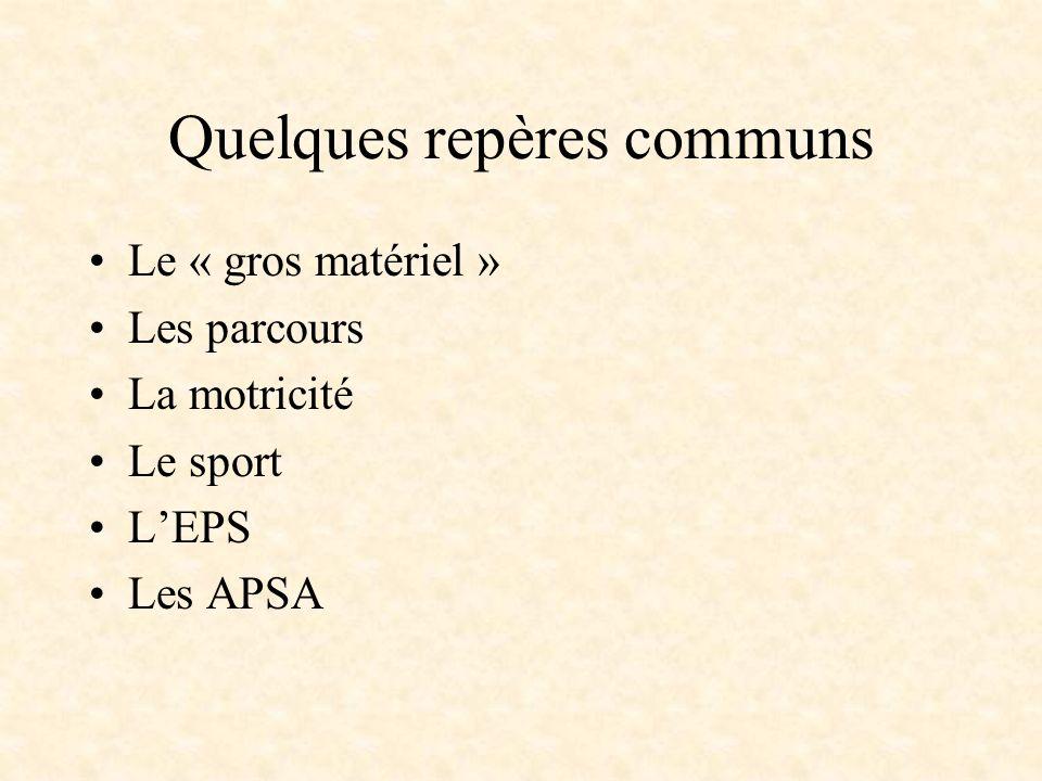 La référence aux APSA: une aide pour lenseignant.