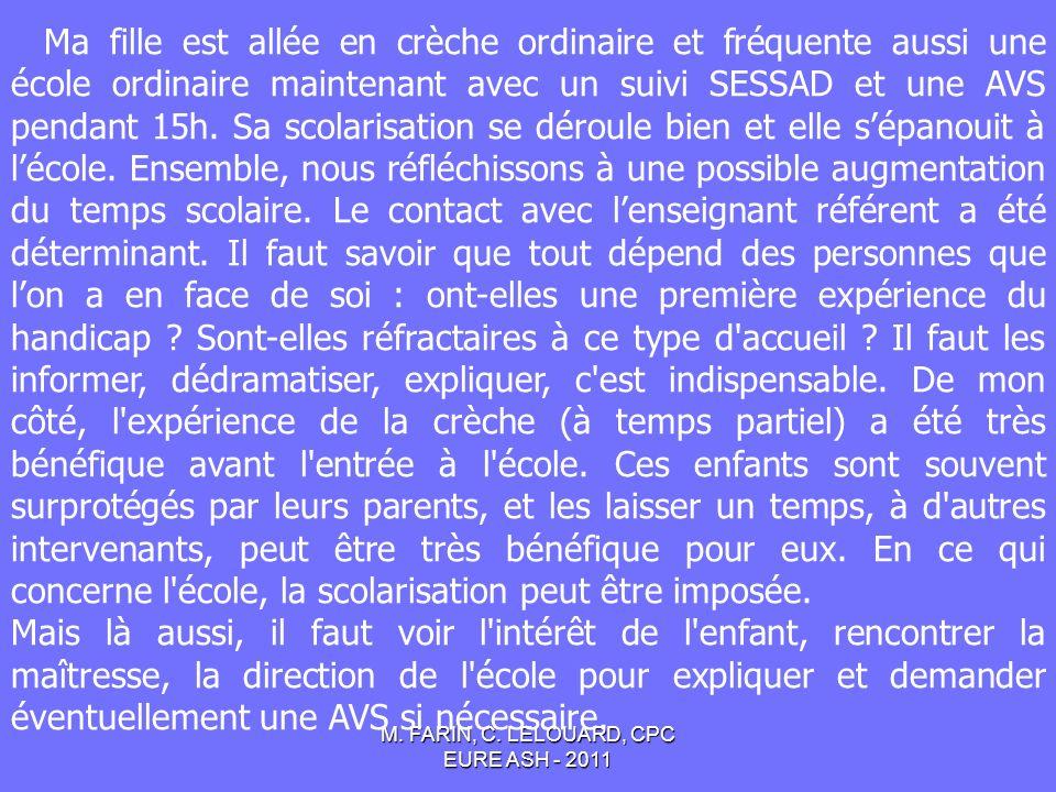 M.FARIN, C. LELOUARD, CPC EURE ASH - 2011 I.A.