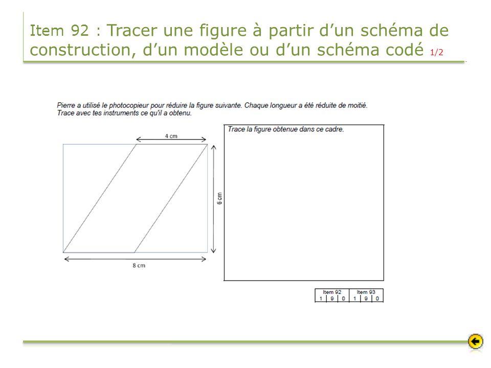 Item 92 : Tracer une figure à partir dun schéma de construction, dun modèle ou dun schéma codé 1/2