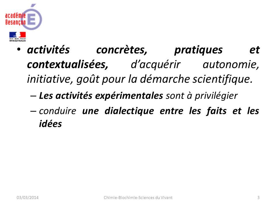 activités concrètes, pratiques et contextualisées, dacquérir autonomie, initiative, goût pour la démarche scientifique.