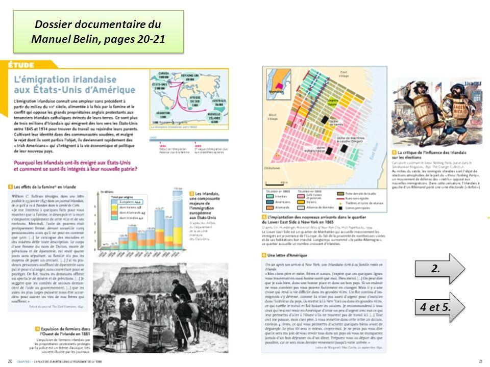 Dossier documentaire du Manuel Belin, pages 20-21 2. 4 et 5.