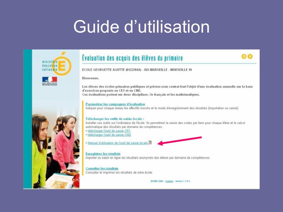 Guide dutilisation