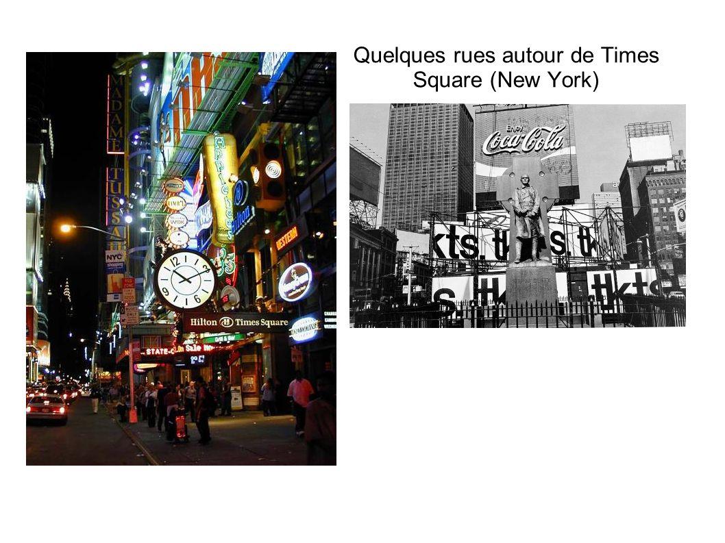 Quelques rues autour de Times Square (New York)