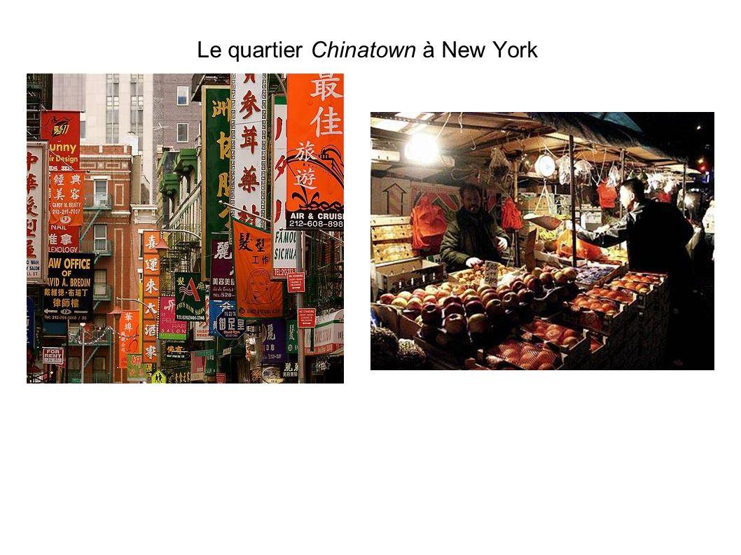 Le quartier Chinatown à New York