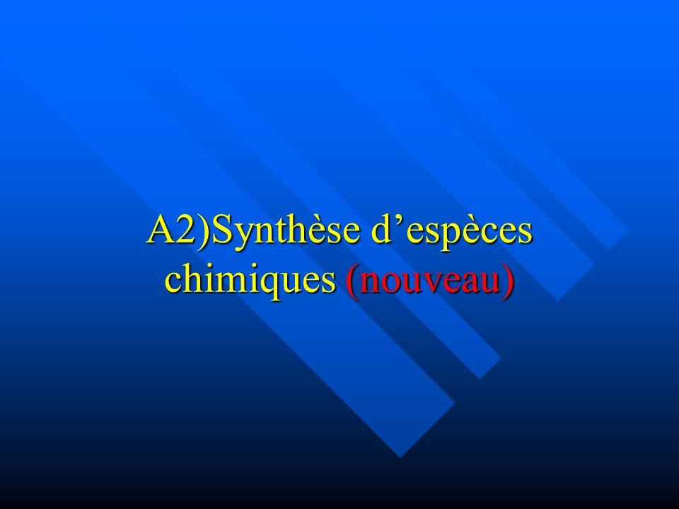 A2)Synthèse despèces chimiques (nouveau)