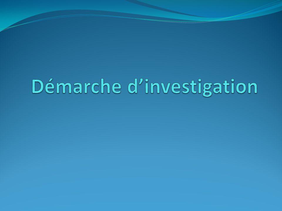 la Démarche dinvestigation…mission possible .
