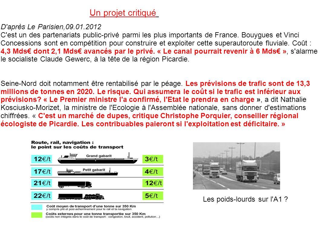 D'après Le Parisien,09.01.2012 C'est un des partenariats public-privé parmi les plus importants de France. Bouygues et Vinci Concessions sont en compé
