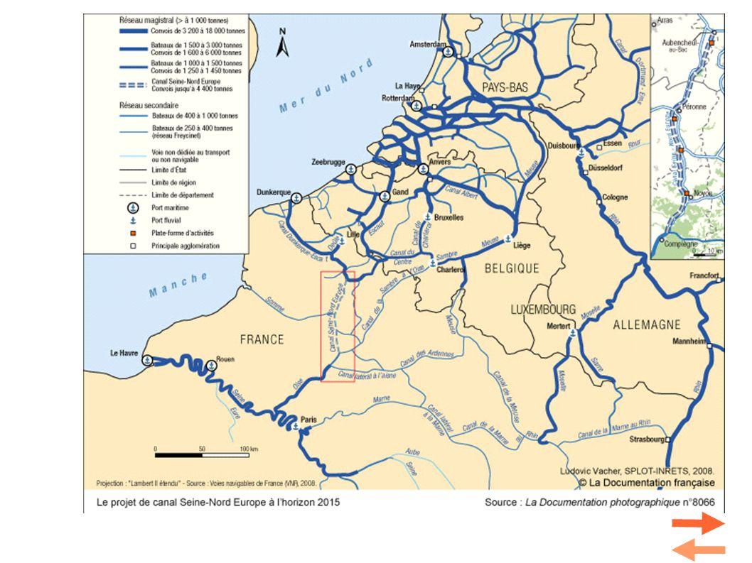 Document 4. Le projet du canal Seine Nord-Europe Sur un canal