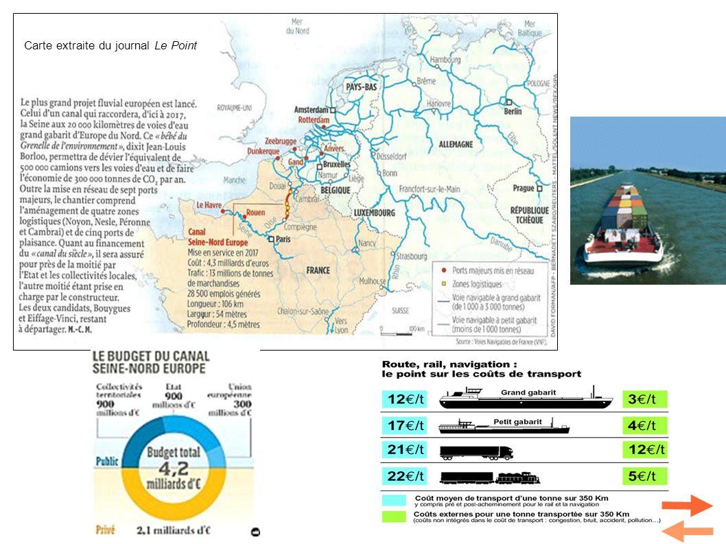 Carte extraite du journal Le Point