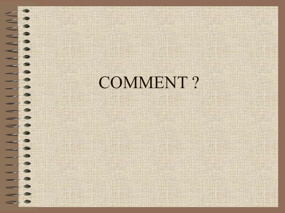 COMMENT ?