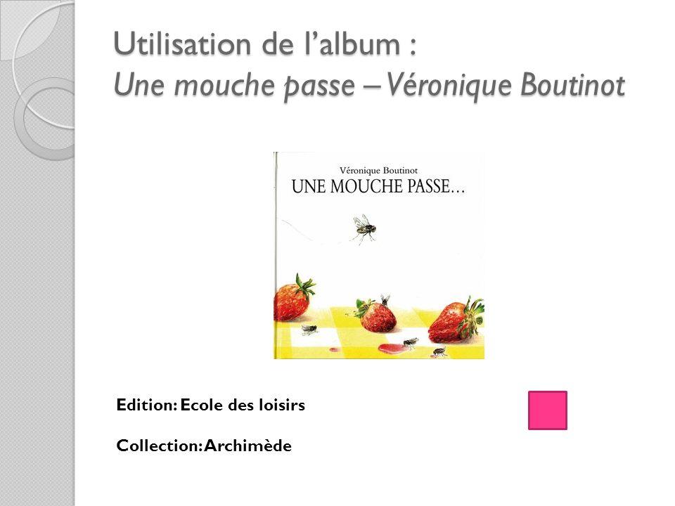 Utilisation de lalbum : Une mouche passe – Véronique Boutinot Edition: Ecole des loisirs Collection: Archimède