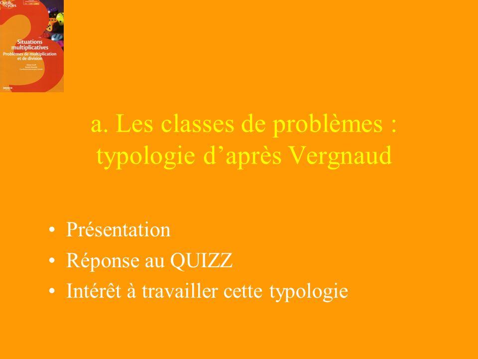 1. Les contraintes didactiques a. Les catégories de problèmes b. La commutativité de la multiplication c. La division : léquivalence de deux gestes me